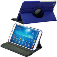 *SALE* Rotary Leather Hybrid Case for Samsung Galaxy Tab 3 8.0 - Blue
