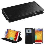 *SALE* Book-Style Leather Folio Case for Samsung Galaxy Note 3 - Black