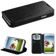 *SALE* Book-Style Leather Folio Case for Samsung Galaxy S4 - Black