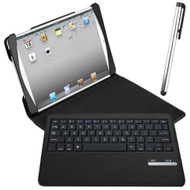 Naztech Sleek Portfolio Case with Detachable Bluetooth Keyboard and Stylus for iPad (2017) / iPad Air - Black