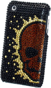 Bling Bling Crystal Back Cover for Apple iPhone 3G / 3GS (Skull/Gold)