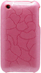 Protective Back Cover for Apple iPhone 3G / 3GS (Mesh/Pink)
