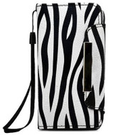 *Sale* Designer Leather Wallet Shell Case and Screen Protector for iPhone SE / 5S / 5 - Zebra