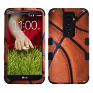 Military Grade TUFF Image Hybrid Case for LG G2 - Basketball