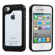 Dual-Layer Bumper Cover for iPhone 4 / 4S - Black