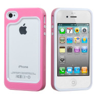 Dual-Layer Bumper Cover for iPhone 4 / 4S - Pink