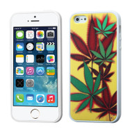 Polymer Hybrid Case and Screen Protector for iPhone SE / 5S / 5 - Cannabis