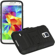 Advanced Armor Hybrid Kickstand Case with Holster for Samsung Galaxy S5 - Black