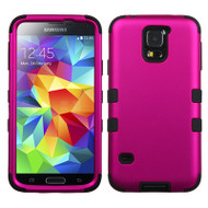 Military Grade Certified TUFF Hybrid Case for Samsung Galaxy S5 - Hot Pink