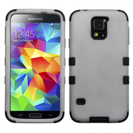 Military Grade Certified TUFF Hybrid Case for Samsung Galaxy S5 - Grey