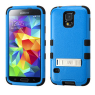 Military Grade Certified TUFF Hybrid Kickstand Armor for Samsung Galaxy S5 - Blue