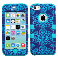 Military Grade TUFF Image Hybrid Case for iPhone 5C - Damask
