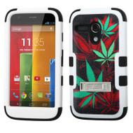 *Sale* Military Grade TUFF Image Hybrid Kickstand Armor for Motorola Moto G - Cannabis Black