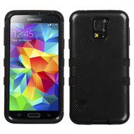 Military Grade Certified TUFF Image Hybrid Case for Samsung Galaxy S5 - Carbon Fiber