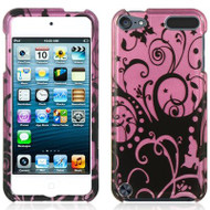 Snap-On Protective Image Case for iPod Touch 5th / 6th Generation - Swirl Floral