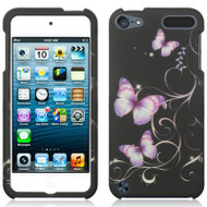 Snap-On Protective Image Case for iPod Touch 5th / 6th Generation - Purple Butterfly
