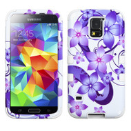 *SALE* Military Grade TUFF Image Hybrid Case for Samsung Galaxy S5 - Hibiscus Flower Romance Purple