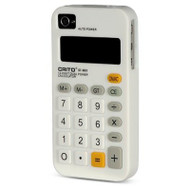 *CLEARANCE* Pocket Calculator Silicone Case for iPhone 4 / 4S - White