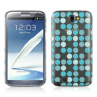 *CLEARANCE* Aero Graphic Protective Case for Samsung Galaxy Note II - Dots Blue