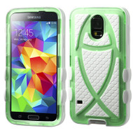 Fish Hybrid Case for Samsung Galaxy S5 - Green White