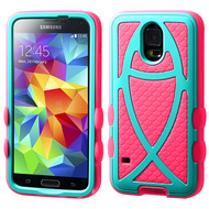 Fish Hybrid Case for Samsung Galaxy S5 - Teal Hot Pink