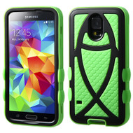 Fish Hybrid Case for Samsung Galaxy S5 - Black Green