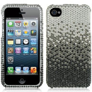 *CLEARANCE* Bling Bling Diamante Case and Screen Protector for iPhone 4 / 4S - Gradient Black
