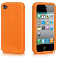 *DOLLAR SALE* Premium Silicone Skin Cover for iPhone 4 / 4S - Orange