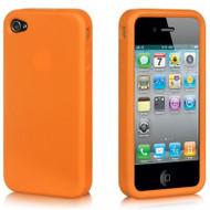 *DOLLAR SALE* Premium Silicone Skin Cover for iPhone 4 / 4S - Orange