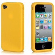 Premium Silicone Skin Cover for iPhone 4 / 4S - Yellow