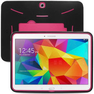 Explorer Impact Armor Kickstand Hybrid Case for Samsung Galaxy Tab 4 10.1 - Black Hot Pink