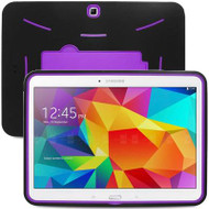 Explorer Impact Armor Kickstand Hybrid Case for Samsung Galaxy Tab 4 10.1 - Black Purple