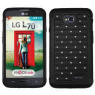 *$1 SALE* TotalDefense Diamond Hybrid Case for LG Ultimate 2 / Realm / Optimus L70 / Exceed 2 - Black