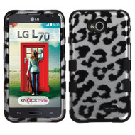 *$1 SALE* Military Grade TUFF Image Hybrid Case for LG Ultimate 2 / Realm / Optimus L70 / Exceed 2 - Leopard Silver
