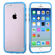 Hybrid Bumper Case for iPhone 6 / 6S - Blue Clear