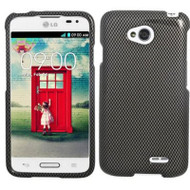 *$1 SALE* Snap-On Protective Image Case for LG Ultimate 2 / Realm / Optimus L70 / Exceed 2 - Carbon Fiber