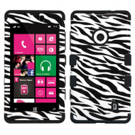 Military Grade TUFF Image Hybrid Case for Nokia Lumia 521 - Zebra