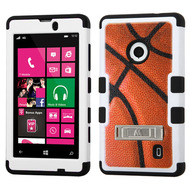 Military Grade TUFF Image Hybrid Kickstand Armor for Nokia Lumia 521 - Basketball