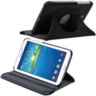 Rotary Leather Hybrid Case for Samsung Galaxy Tab 4 7.0 - Black