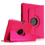 Rotary Leather Hybrid Case for Samsung Galaxy Tab 4 10.1 - Hot Pink