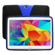Shockproof Armor Kickstand Case for Samsung Galaxy Tab 4 10.1 - Black Blue