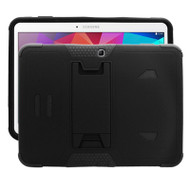 TUFF Hybrid Kickstand Armor Case for Samsung Galaxy Tab 4 10.1 - Black