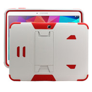 TUFF Hybrid Kickstand Armor Case for Samsung Galaxy Tab 4 10.1 - White Red