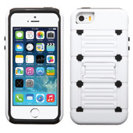 TechnoKick Hybrid Case for iPhone SE / 5S / 5 - White