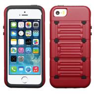 TechnoKick Hybrid Case for iPhone SE / 5S / 5 - Red