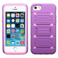 TechnoKick Hybrid Case for iPhone SE / 5S / 5 - Purple Pink