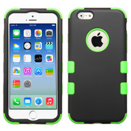 Military Grade Certified TUFF Hybrid Case for iPhone 6 / 6S - Black Green