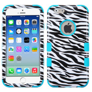 Military Grade Certified TUFF Image Hybrid Case for iPhone 6 / 6S - Zebra Teal