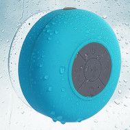 Waterproof Suction Cup Bluetooth Wireless Speaker with Hands-Free Speakerphone - Blue