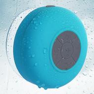 Waterproof Suction Cup Bluetooth Wireless Speaker with Hands-Free Speakerphone - Blue